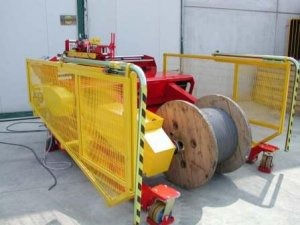For max 4 tonnes cable drums
