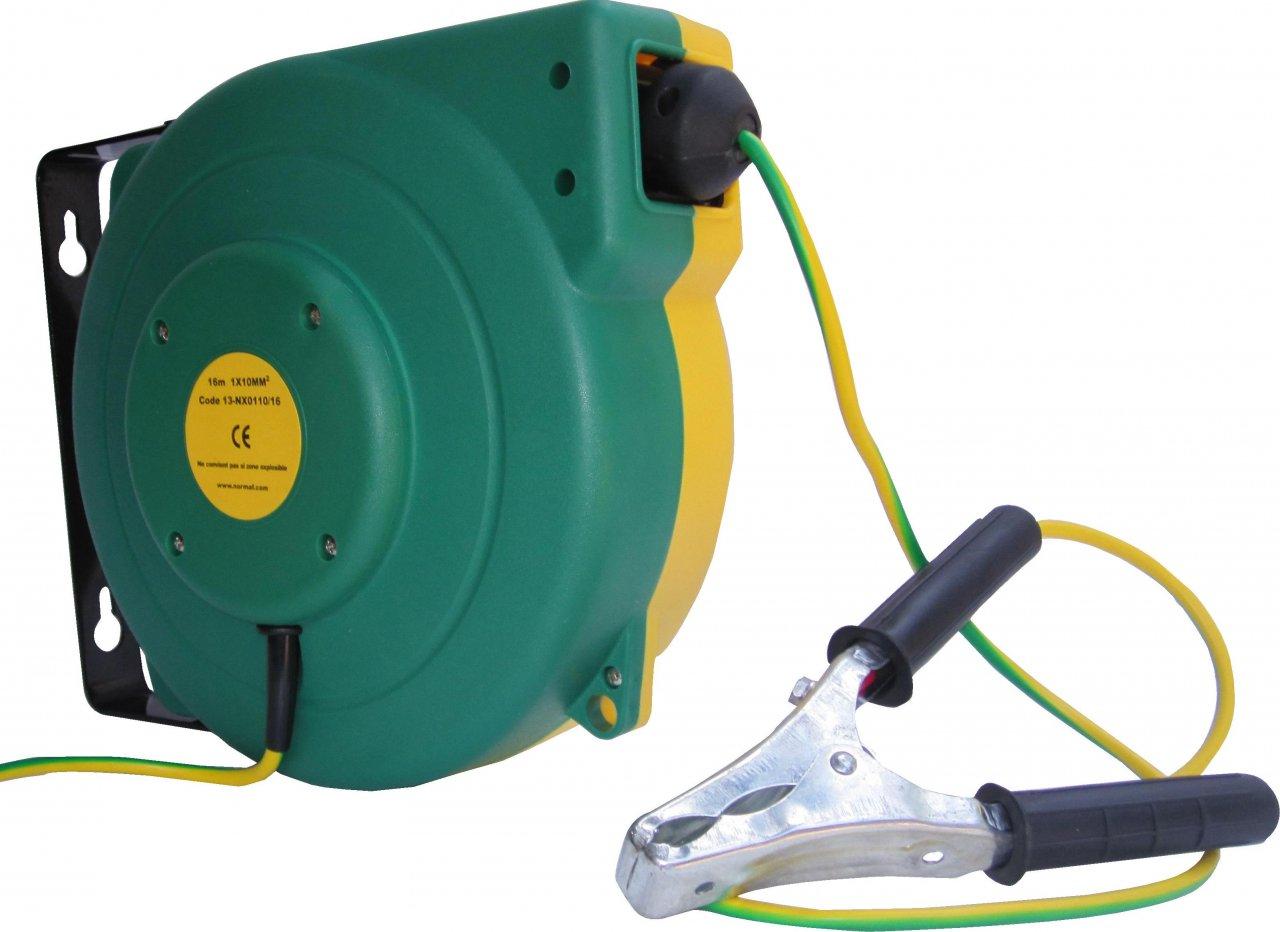 enrouleur rappel automatique pour mise a la terre malt nos produits cable equipements. Black Bedroom Furniture Sets. Home Design Ideas